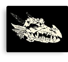 Ancient Dragon Skull Canvas Print