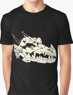 Ancient Dragon Skull Graphic T-Shirt