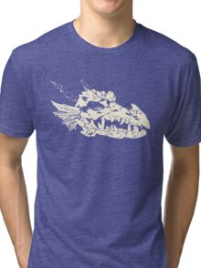 Ancient Dragon Skull Tri-blend T-Shirt