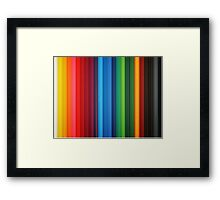 Brilliant Multi Colored Stripes Framed Print