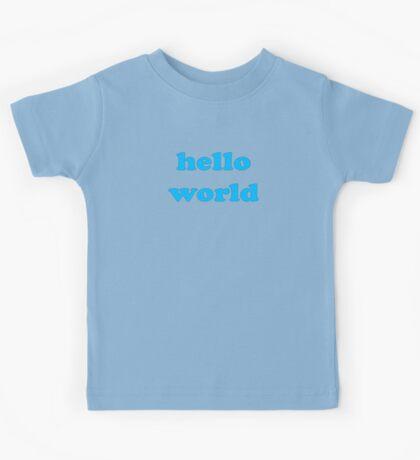 Cute Baby Jumpsuit PJ - Hello World - T-Shirt Kids Tee