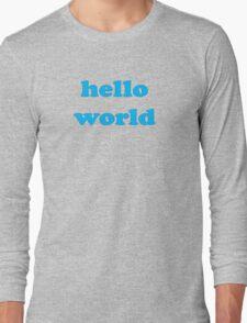 Cute Baby Jumpsuit PJ - Hello World - T-Shirt Long Sleeve T-Shirt