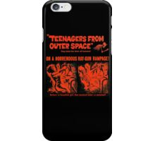 Teenagers from outer space ray-gun poster iPhone Case/Skin