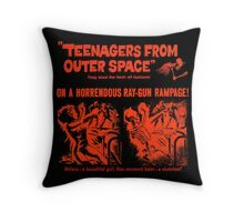 Teenagers from outer space ray-gun poster Throw Pillow