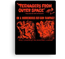 Teenagers from outer space ray-gun poster Canvas Print