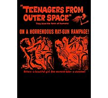 Teenagers from outer space ray-gun poster Photographic Print