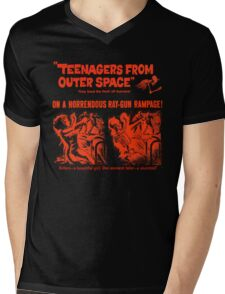 Teenagers from outer space ray-gun poster Mens V-Neck T-Shirt