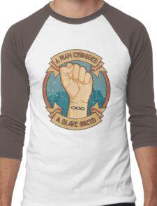 A Man Chooses, A Slave Obeys Men's Baseball ¾ T-Shirt