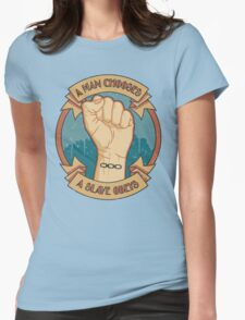 A Man Chooses, A Slave Obeys  - Bioshock Womens Fitted T-Shirt
