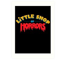 Little horrors shop title Art Print