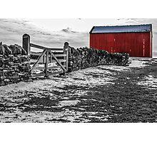 Shakertown Red Barn - SC Photographic Print