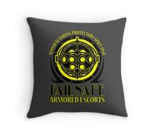 Failsafe Armored Escorts worn Throw Pillow