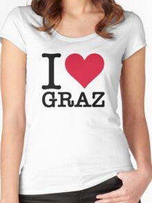 I Love Graz Women's Fitted Scoop T-Shirt