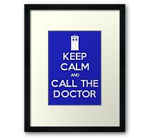 Doctor Who: Keep Calm Framed Print