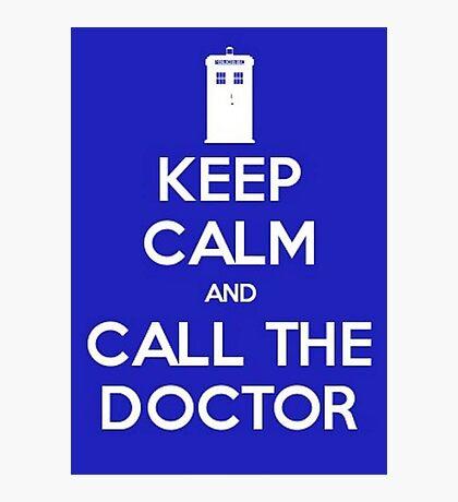 Doctor Who: Keep Calm Photographic Print