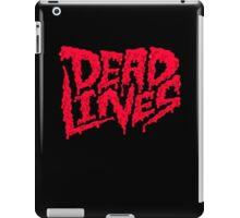 Dead lines red blood iPad Case/Skin
