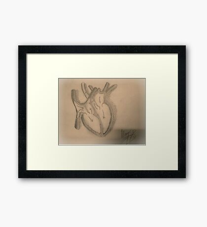 Love Organ Framed Print