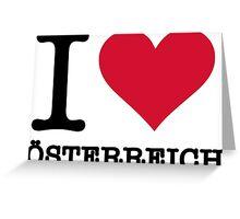 I love Austria Greeting Card