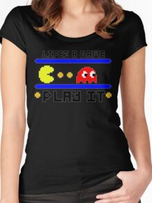 Life's a game... Play it Women's Fitted Scoop T-Shirt