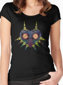 LoZ: Majora's Mask - Typography Women's Fitted Scoop T-Shirt