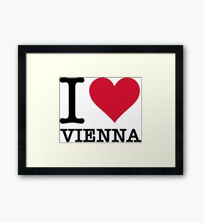 I Love Vienna Framed Print