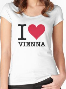 I Love Vienna Women's Fitted Scoop T-Shirt