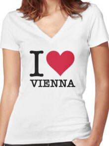 I Love Vienna Women's Fitted V-Neck T-Shirt