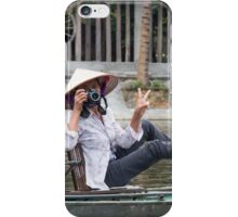 Vietnamese Photographer Boat Lady  iPhone Case/Skin