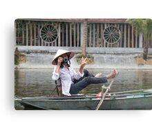 Vietnamese Photographer Boat Lady  Metal Print