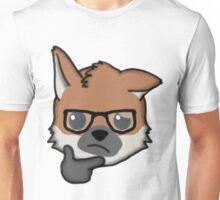 Maned Wolf With Glasses Thinking Face Emoji Unisex T-Shirt