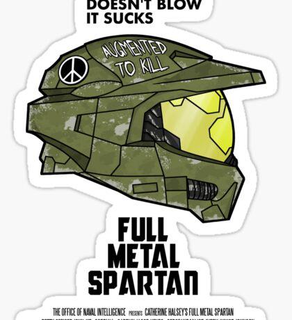 Full Metal Spartan Sticker