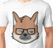 Maned Wolf With Glasses Unamused Face Emoji Unisex T-Shirt