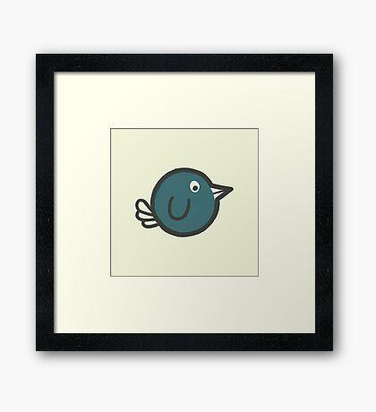 Flying Blue Bird! Framed Print
