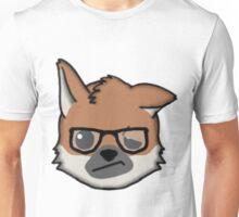 Maned Wolf With Glasses Face Emoji Unisex T-Shirt