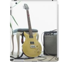 gold top electric guitar and amplifier iPad Case/Skin