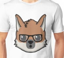 Maned Wolf With Glasses Surprised Face Emoji Unisex T-Shirt