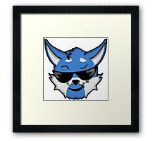 Wolf Furry Cool Face Emoji Framed Print