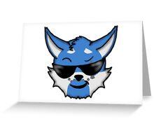 Wolf Furry Cool Face Emoji Greeting Card