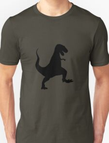 Tyrannosaurus rex Roaring and Stomping Silhouette Unisex T-Shirt