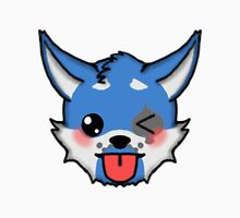 Wolf Furry Tongue Out Face Emoji Unisex T-Shirt