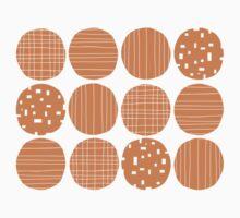 Tangerine circles Kids Tee