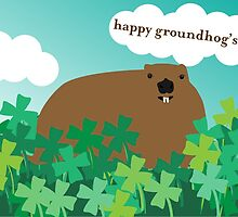 Happy Groundhog's Day » Frollicking in the Clover by tinyflyinggoats