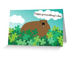 Happy Groundhog's Day » Frollicking in the Clover Greeting Card