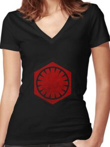 Star Wars - First Order Women's Fitted V-Neck T-Shirt