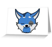 Wolf Furry Smirking Face Emoji Greeting Card