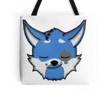 Wolf Furry Smirking Face Emoji Tote Bag