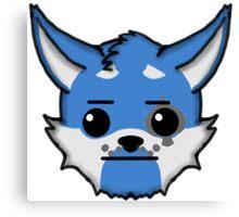 Wolf Furry Straight Face Emoji Canvas Print