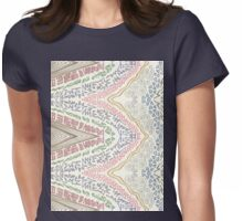 gold rainbow Womens Fitted T-Shirt