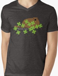 Groundhog in the Clover, Call him by his Latin name Mens V-Neck T-Shirt