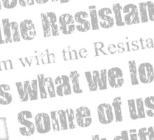 Resistance Member Sticker